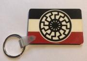 Schwarze Sonne Schwarz/Weiss/Rot - Schlüsselanhänger