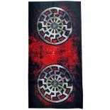 Schwarze Sonne - Tuch 50 cm x 24,5 cm
