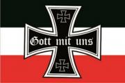 Gott mit uns Schwarz/Weiss/Rot - Fahne 150x90 cm