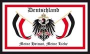 Deutschland Meine Heimat, Meine Liebe - Aufkleber(wasserfest)