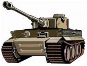 Panzer Tiger - Aufkleber(wasserfest) 14 x 10