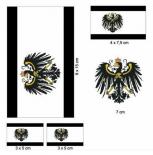 Königreich Preussen - Aufklebner Set(wasserfest)