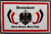Deutschland - Meine Heimat - Meine Liebe - Aufnäher