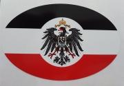 Deutsches Reich 10 x 6,5 cm - 10 Aufkleber(wasserfest)