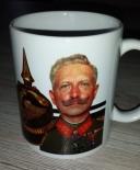 Wilhelm II - Pickelhaube - Reichskriegsflagge - 4 Tassen(Rundumdruck)