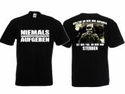 Wehrmacht - Niemals Aufgeben - T-Shirt schwarz