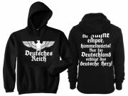 Deutsches Reich - Die Fahne empor - Kapuzenpullover schwarz