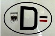 Deutschland - Aufkleber(wasserfest)