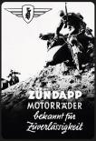 Zündapp Motorräder - Blechschild