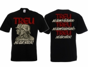 Deutsche Treue - Vaterland - T-Shirt schwarz