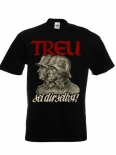 Deutsche Treue - Soldat - Vaterland - T-Shirt schwarz