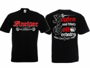 Kneiper - Zapfen für Deutschland - T-Shirt schwarz