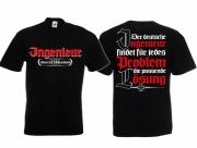 Ingenieur - Für jedes Problem die passende Lösung - T-Shirt schwarz