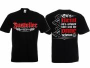 Zusteller - Austeilen für Deutschland - T-Shirt schwarz