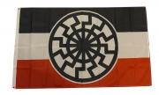 Schwarze Sonne SWR - Fahne 150x90cm