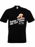Schöne Grüße aus dem Osten - T-Shirt schwarz