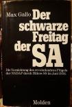 Der schwarze Freitag der SA - gebrauchtes Buch - Guter Zustand
