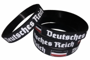 Schwarz/Weiss/Rot - Armband