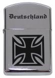 Deutschland Eisernes Kreuz - Sturmfeuerzeug chrom poliert