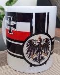Reichskriegsflagge - 4 Tassen(Rundumdruck)