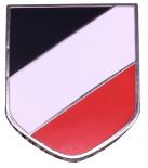 Schwarz/Weiss/Rot Wehrmacht Emblem - Anstecker