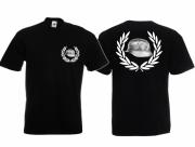 Wehrmacht Stahlhelm - T-Shirt schwarz