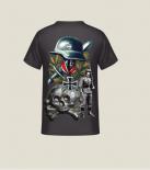 WH Soldat Großdeutschland, Panzerwaffe Totenkopf, Eisernes Kreuz - T-Shirt