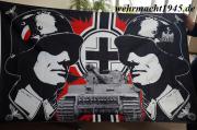 Wehrmacht Tiger Panzer - Fahne 150 x 90 cm