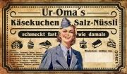 Omas Wehrmacht Helferinnen Salz-Nüsslikäsekuchen