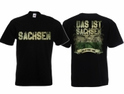 Sachsen - Meine Heimat - T-Shirt schwarz