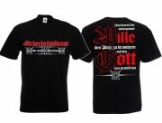 Sicherheitsdienst - Wir schützen Deutschland - T-Shirt schwarz