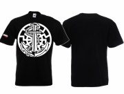 Schwarze Sonne Anker - T-Shirt schwarz