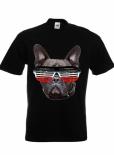 Bulldogge Schwarz/Weiss/Rot - T-Shirt schwarz