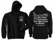 Einzelkämpfer für Deutschland - Kapuzenpullover schwarz