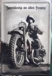 Wehrmacht Krad Motorrad - Blechschild