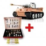 1/16 RC Tiger I Frühe Ausf. unlackiert BB + Solution Box