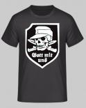 Gott mit uns Totenkopf - T-Shirt