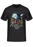 Wehrmacht Stahlhelm, Ritterkreuz, Schwert - T-Shirt