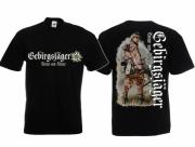 Gebirgsjäger - T-Shirt schwarz