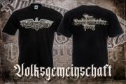 Deutsches Volk Reichsadler - T-Shirt schwarz