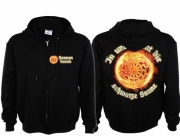 Schwarze Sonne - Kapuzenjacke schwarz