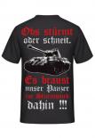 Panzerlied Ob`s stürmt oder schneit - Königstiger Panzer - Rückendruck T-Shirt