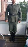 KOPPELRIEMEN Reichswehr/Wehrmacht 45mm Spaltleder Schwarz
