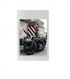 Wehrmacht Motorrad - Kunstdruck - Poster 30x20cm