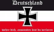 Deutschland wehre dich -  Fahne 150x90cm