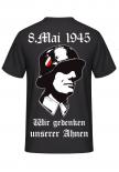 8.Mai 1945 - Wir gedenken unserer Ahnen - T-Shirt Rückenmotiv