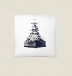 Schlachtschiff Bismarck - 40x40cm Kissen