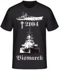 Schlachtschiff Bismarck 2104 T-Shirt II