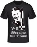 V-2 Rocket Wernher von Braun T-Shirt