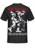 Wir kämpfen für Deutschland - T-Shirt Rückenmotiv